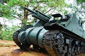 Old Green Heavy War Tank — Stock Photo