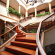 Stock Photo: Grand Wooden Staircase in Villa