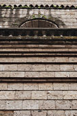 Adobe Wall Details of an Old Church — Stock Photo
