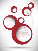 Vector Abstract Web Design Bubble Background — Stock Vector
