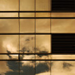 Stock Photo: Sunset On Building Window Wall