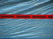 Red Danger Tape — Stock Photo