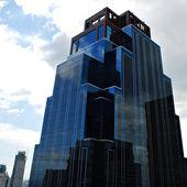 Blue Steel and Glass Skyscraper Building — Stock Photo