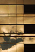 Sunset On a Building Window Wall — Stock Photo