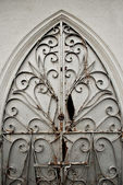 An Old Ornate Metal Door Gate — Stock Photo