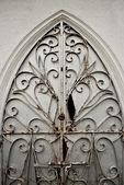 An Old Ornate Metal Door Gate — Stock Photo