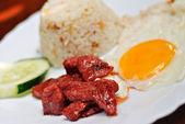 Sweet Pork Breakfast Meal — Stock Photo