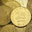 Stock Photo: 25 Centavo Philippine Coins