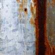 Stock Photo: Rusty Tin Metal Surface Wall Background