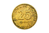 Old 25 Centavo Philippine Coins Isolated — Stock Photo