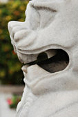 Shishi, Chinese Guardian Lion Statue Details — Stock Photo