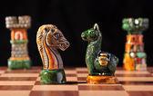 Ecuadorian chess set between Spaniards and Incas — Stock Photo
