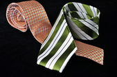 Two ties in exhibition — Stock Photo