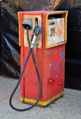 Old retro red gasoline pump — Stock Photo