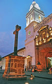 Vertical side view of the Santo Domingo church at dusk — Foto Stock