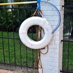 Pool White Lifebuoy — Stock Photo #34823637
