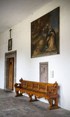 Old Church bench — Foto Stock