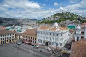 High view of a plaza and buildings, Quito, Ecuador — Stock Photo