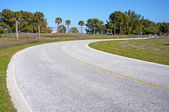 Paved street leading to the beach — Stockfoto