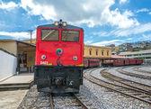 Old electric locomotive train — Stok fotoğraf