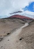 雄伟的科托帕希火山的看法 — 图库照片