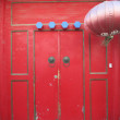 Traditional Chinese Doorway Red — Stock Photo