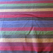 Multicolor Lines on Cloth — Stock Photo