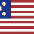 The American Flag of Baseball — Stock Photo