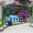 Monsters University Display at Mall — Stock Photo
