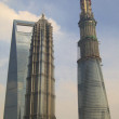 World Financial Center, Jin Mao, and Shanghai Tower — Stock Photo