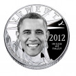 Barack Obama Platinum Coin — Stock Photo