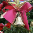 Christmas Star and Red Bow — Stock Photo