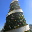 Big Christmas Tree With Round Thing — Stock Photo