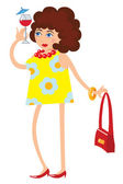 Funny lady — Stock Vector