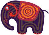 卡通印度大象 — 图库矢量图片