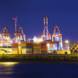 Stock Photo: Illuminated Container Terminal