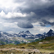 Stock Photo: Cloudy mountain scenery