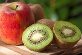 Apple and fruit — Stock Photo