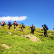 Mountaineering and hiking — Stock Photo