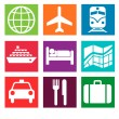 Stock Photo: Tourism symbols
