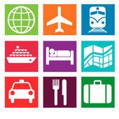 Tourism symbols — Stock Photo