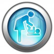 "Icon,Button,Pictogram ""Baby Change"" — Stockfoto"