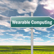 "Stock Photo: Signpost ""Wearable Computing"""
