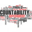 "Stock Photo: Word Cloud ""Accountability"""
