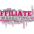 "Word Cloud ""Affiliate Marketing"" — Stock Photo"