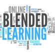 "Word Cloud ""Blended Learning"" — Stock Photo"