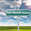 Signpost Cost-Benefit Analysis — Stockfoto #37792749