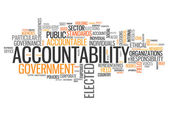 Word Cloud Accountability — Stock Photo