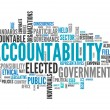 Stock Photo: Word Cloud Accountability