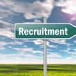 Signpost Recruitment — Stock Photo #38050659
